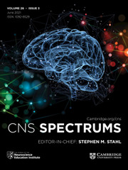 CNS Spectrums Volume 26 - Issue 3 -