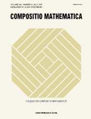 Compositio Mathematica Volume 143 - Issue 4 -
