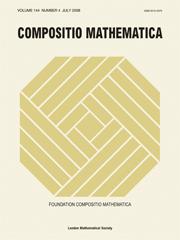 Compositio Mathematica Volume 144 - Issue 4 -