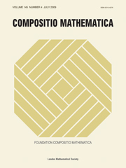 Compositio Mathematica Volume 145 - Issue 4 -