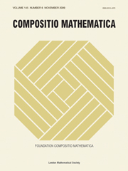 Compositio Mathematica Volume 145 - Issue 6 -