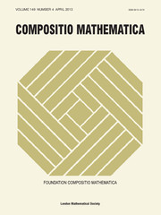 Compositio Mathematica Volume 149 - Issue 4 -