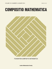 Compositio Mathematica Volume 150 - Issue 8 -
