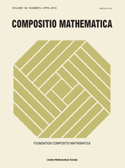 Compositio Mathematica Volume 152 - Issue 4 -