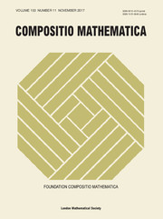 Compositio Mathematica Volume 153 - Issue 11 -