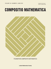 Compositio Mathematica Volume 154 - Issue 6 -
