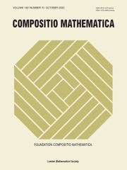 Compositio Mathematica Volume 156 - Issue 10 -