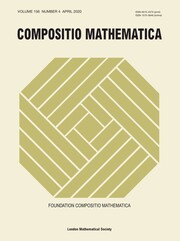 Compositio Mathematica Volume 156 - Issue 4 -
