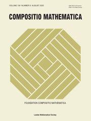 Compositio Mathematica Volume 156 - Issue 8 -