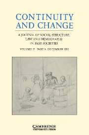 Continuity and Change Volume 17 - Issue 3 -