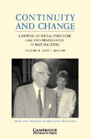 Continuity and Change Volume 18 - Issue 1 -