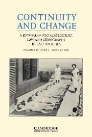 Continuity and Change Volume 19 - Issue 2 -
