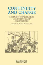 Continuity and Change Volume 22 - Issue 2 -