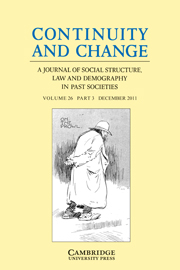 Continuity and Change Volume 26 - Issue 3 -