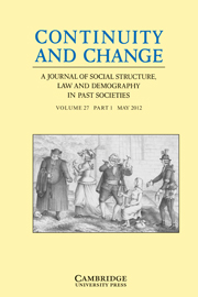 Continuity and Change Volume 27 - Issue 1 -