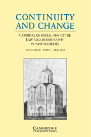 Continuity and Change Volume 28 - Issue 1 -