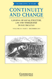 Continuity and Change Volume 30 - Issue 3 -