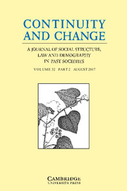 Continuity and Change Volume 32 - Issue 2 -