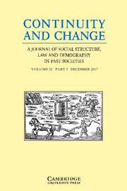 Continuity and Change Volume 32 - Issue 3 -