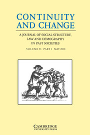 Continuity and Change Volume 33 - Issue 1 -
