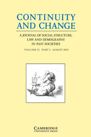 Continuity and Change Volume 33 - Issue 2 -