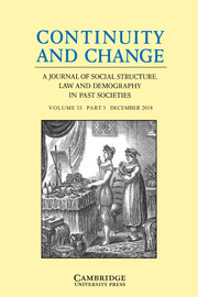 Continuity and Change Volume 33 - Issue 3 -