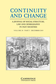 Continuity and Change Volume 34 - Issue 3 -