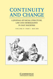 Continuity and Change Volume 35 - Special Issue1 -  Coping with Crisis: Labour Markets, Institutional Changes and Household Economies