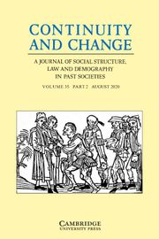Continuity and Change Volume 35 - Issue 2 -