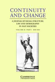 Continuity and Change Volume 36 - Issue 1 -
