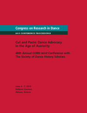 Congress on Research in Dance Conference Proceedings