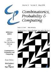 Combinatorics, Probability and Computing Volume 12 - Issue 3 -