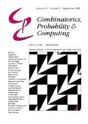 Combinatorics, Probability and Computing Volume 15 - Issue 5 -