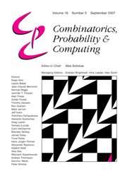 Combinatorics, Probability and Computing Volume 16 - Issue 5 -