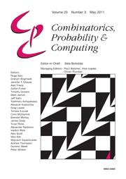 Combinatorics, Probability and Computing Volume 20 - Issue 3 -