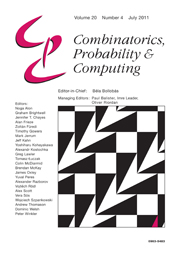 Combinatorics, Probability and Computing Volume 20 - Issue 4 -