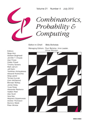Combinatorics, Probability and Computing Volume 21 - Issue 4 -