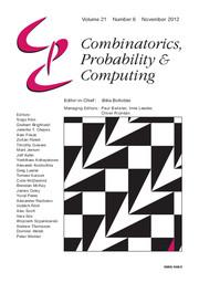 Combinatorics, Probability and Computing Volume 21 - Issue 6 -