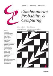 Combinatorics, Probability and Computing Volume 22 - Issue 2 -