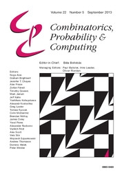 Combinatorics, Probability and Computing Volume 22 - Issue 5 -