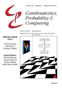 Combinatorics, Probability and Computing Volume 23 - Issue 5 -  Honouring the Memory of Philippe Flajolet - Part 1