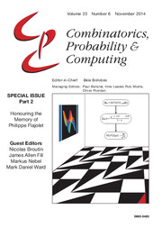 Combinatorics, Probability and Computing Volume 23 - Issue 6 -  Honouring the Memory of Philippe Flajolet - Part 2