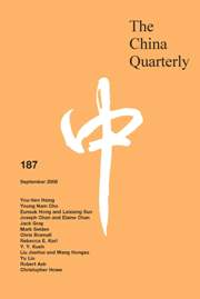 The China Quarterly Volume 187 - Issue  -