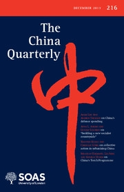 The China Quarterly Volume 216 - Issue  -