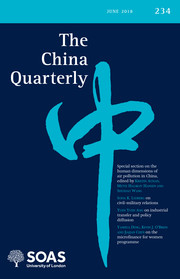 The China Quarterly Volume 234 - Issue  -