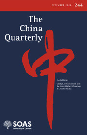 The China Quarterly Volume 244 - Issue  -