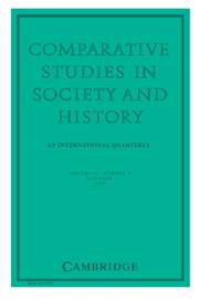 Comparative Studies in Society and History Volume 49 - Issue 4 -