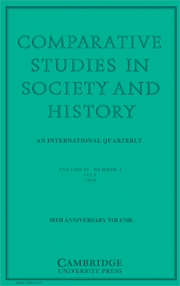 Comparative Studies in Society and History Volume 50 - Issue 3 -