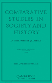 Comparative Studies in Society and History Volume 50 - Issue 4 -