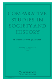 Comparative Studies in Society and History Volume 51 - Issue 1 -